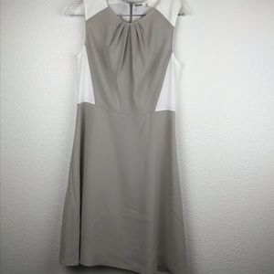 Elie Tahari Dress SZ 6 NWOT Tan & White